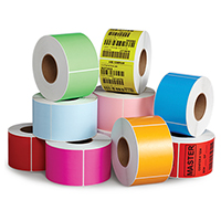 Kolorowe etykiety papierowe