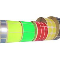 Kolorowe etykiety termiczne