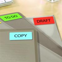 Etykiety trwałe kolorowe