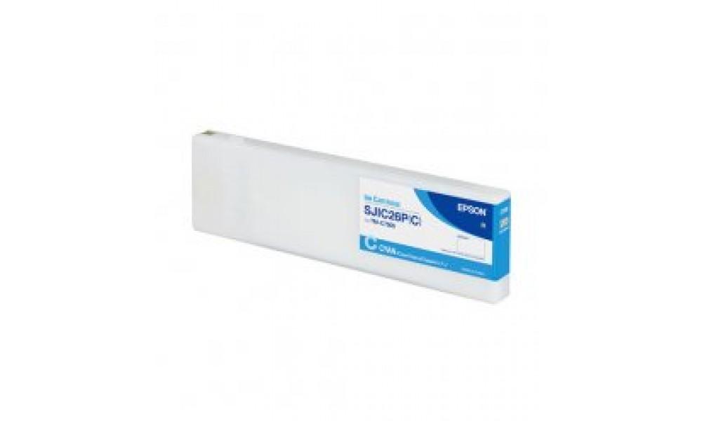 Pojemnik z tuszem do drukarki Epson ColorWorks C7500 (cyjan)