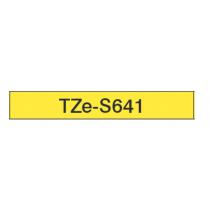 Taśma laminowana z mocnym klejem TZe-S641 do drukarek Brother (szerokość 18mm)