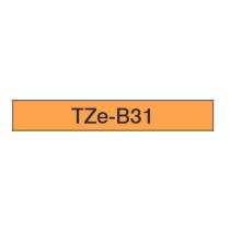 Taśma laminowana fluorescencyjna TZe-B31 do drukarek Brother (szer. 12mm)