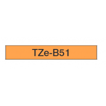 Taśma laminowana fluorescencyjna TZe-B51 do drukarek Brother (szer. 24mm)