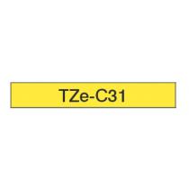 Taśma laminowana fluorescencyjna TZe-C31 do drukarek Brother (szer. 12mm)