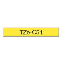 Taśma laminowana fluorescencyjna TZe-C51 do drukarek Brother (szer. 24mm)