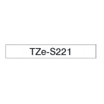 Taśma laminowana z mocnym klejem TZe-S221 do drukarek Brother (szerokość 9mm)