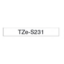Taśma laminowana z mocnym klejem TZe-S231 do drukarek Brother (szerokość 12mm)