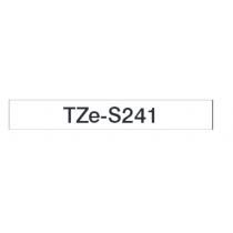 Taśma laminowana z mocnym klejem TZe-S241 do drukarek Brother (szerokość 18mm)