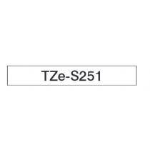 Taśma laminowana z mocnym klejem TZe-S251 do drukarek Brother (szerokość 24mm)