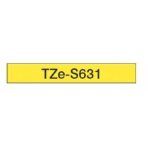 Taśma laminowana z mocnym klejem TZe-S631 do drukarek Brother (szerokość 12mm)