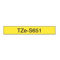 Taśma laminowana z mocnym klejem TZe-S651 do drukarek Brother (szerokość 24mm)