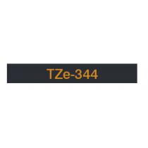 Taśma laminowana TZe-344 do drukarek Brother (szerokość 18mm)