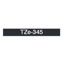 Taśma laminowana TZe-345 do drukarek Brother (szerokość 18mm)