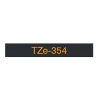 Taśma laminowana TZe-354 do drukarek Brother (szerokość 24mm)