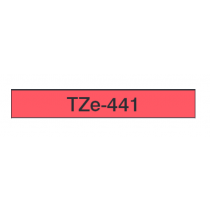 Taśma laminowana TZe-441 do drukarek Brother (szerokość 18mm)