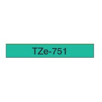 Taśma laminowana TZe-751 do drukarek Brother (szerokość 24mm)