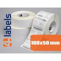 Zadruk etykiet samoprzylepnych 100x50 mm